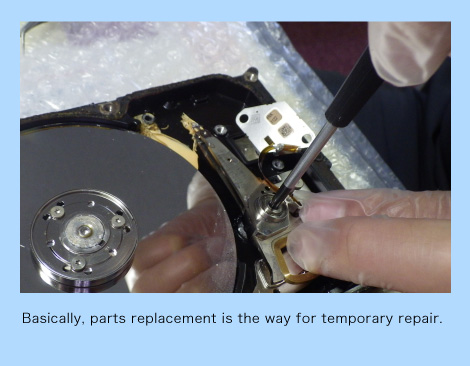Basically, parts replacement is the way for temporary repair.